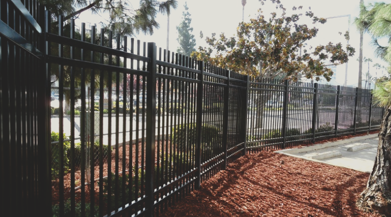 We install ornamental fences out of either steel or aluminum that have the look of a wrought iron fence. Wrought iron looks great and adds lots of security and beauty to any property.