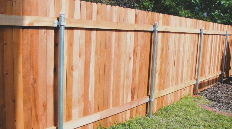 We install a lot of wood fences. They add privacy and security and come in many different styles. You can customize a wood fence to meet your taste. With proper maintenance, wood can last a very long time!